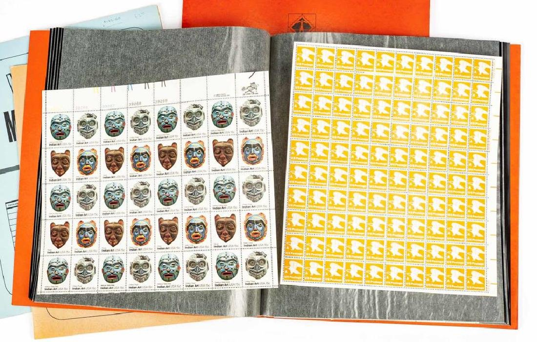 1970s-80s Mint Postage Sheets - 2