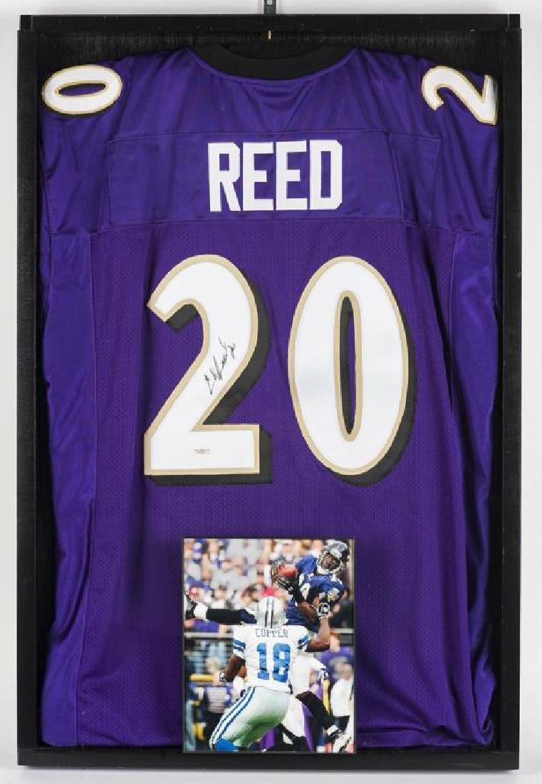 Autographed Ed Reed Football Jersey
