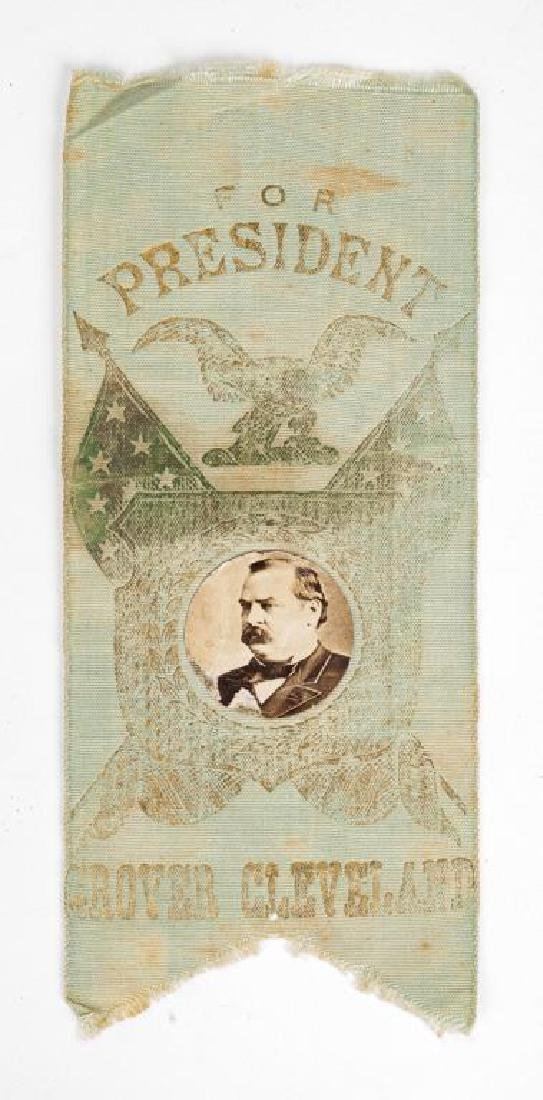 Grover Cleveland Campaign Ribbon with Photo