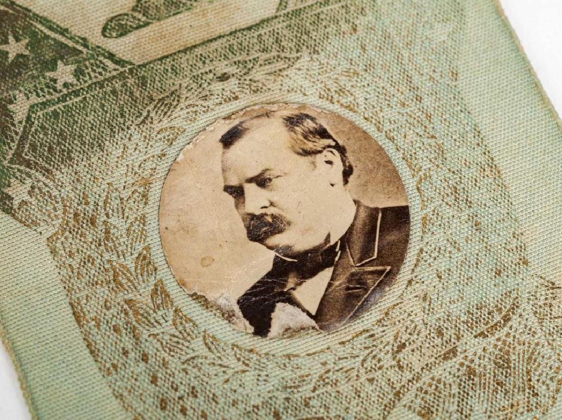 Grover Cleveland Campaign Ribbon with Photo - 3