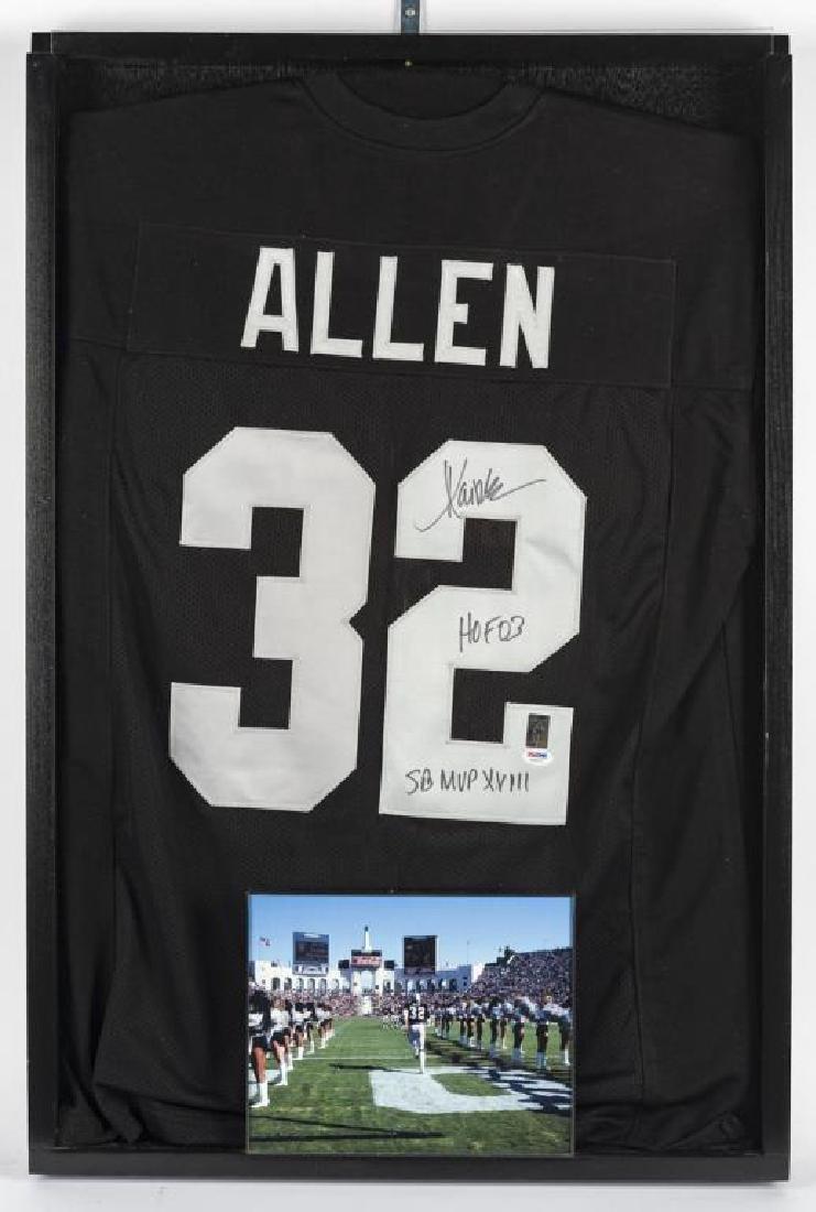 Autographed Marcus Allen Football Jersey