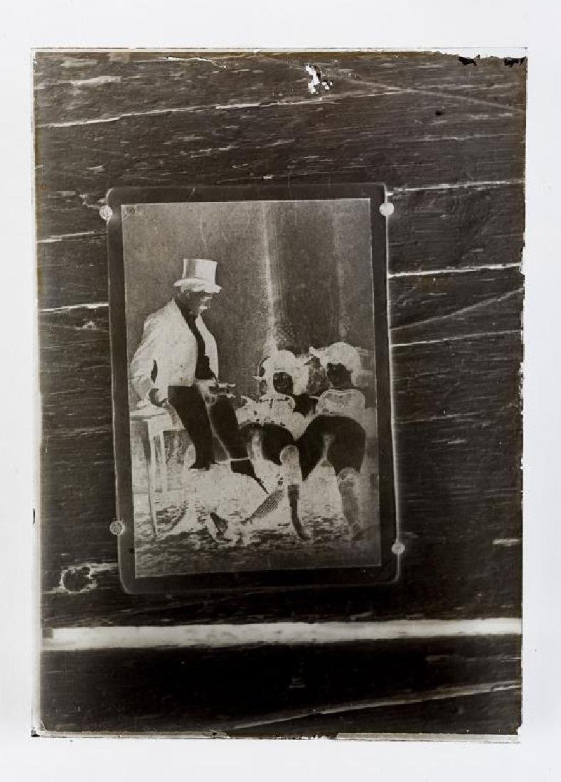 3 Early Erotic Silver Gelatin Glass Negatives - 4