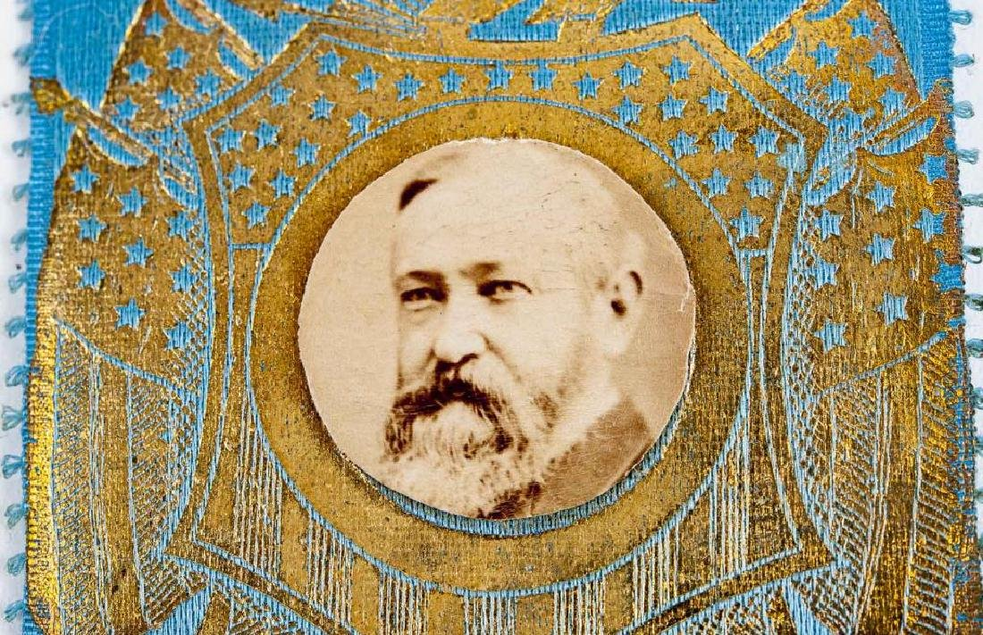 Benjamin Harrison Campaign Ribbon with Photo - 2