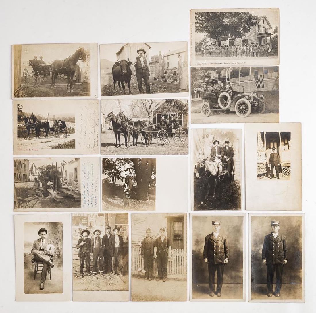 15 Vintage Postcards Incl Occupations
