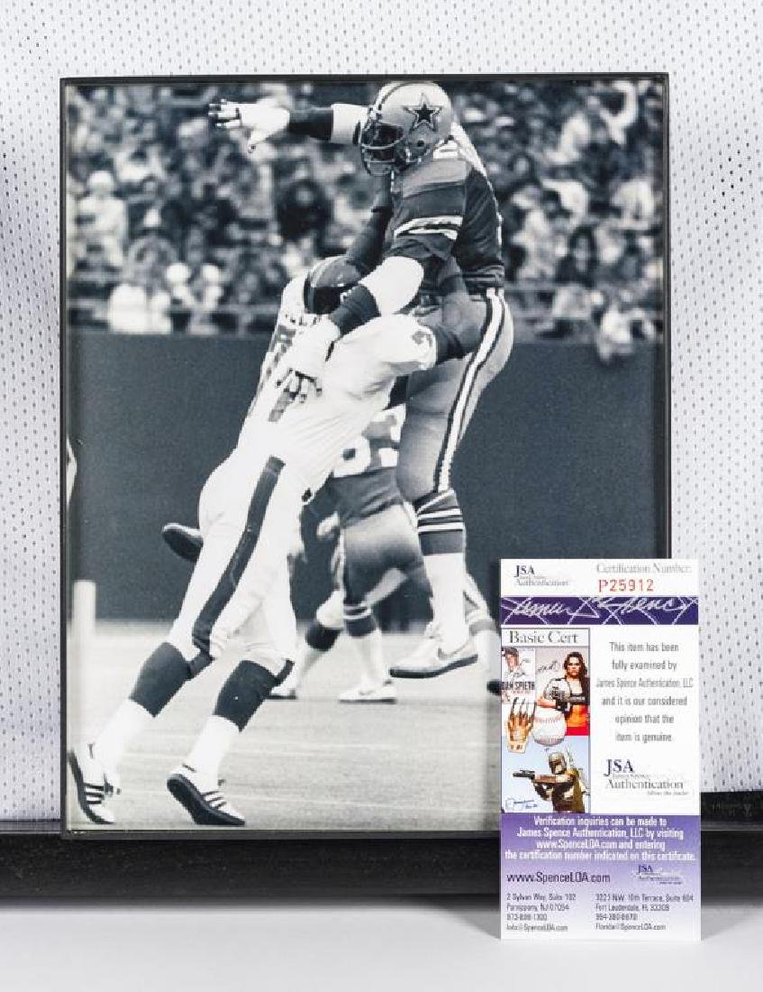 "Autographed Ed ""Too Tall"" Jones Football Jersey - 2"