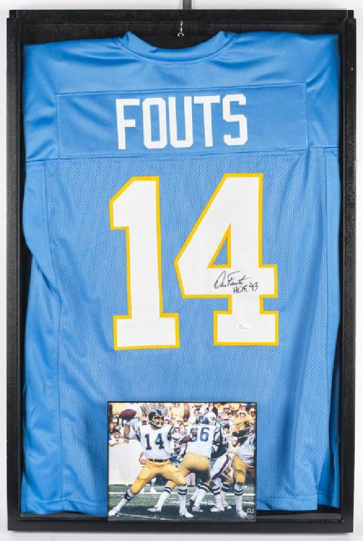 Autographed Dan Fouts Football Jersey