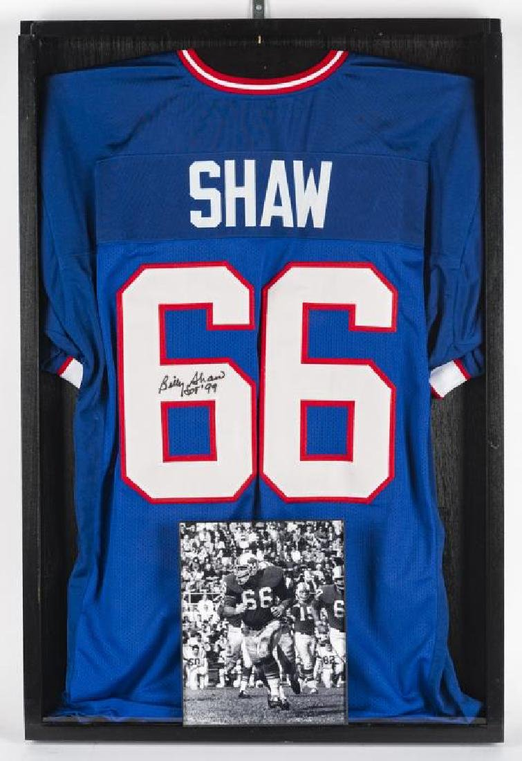 Autographed Billy Shaw Football Jersey