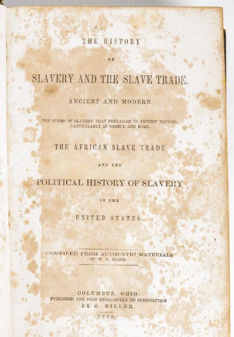 2 Books Incl Blake's The History of Slavery 1859 - 4