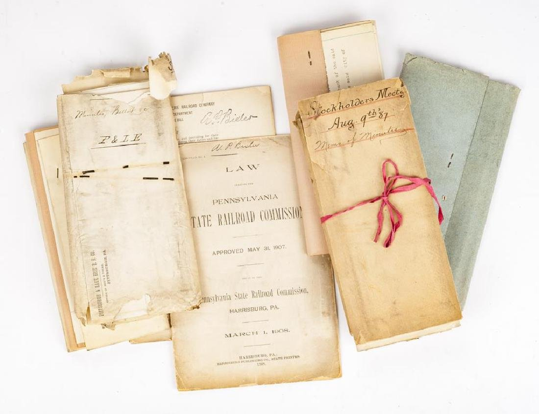 Group of Pittsburgh & Lake Erie Railroad Documents