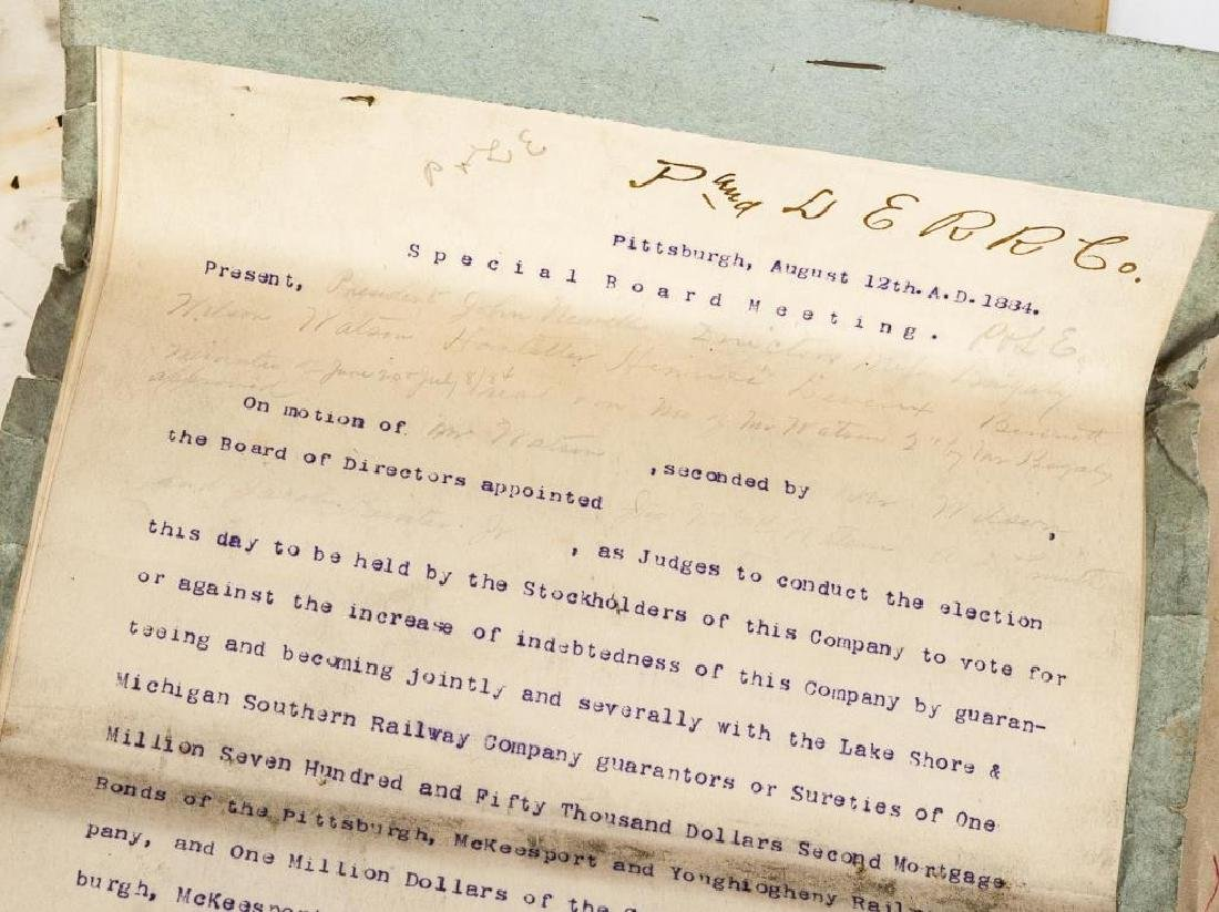 Group of Pittsburgh & Lake Erie Railroad Documents - 2