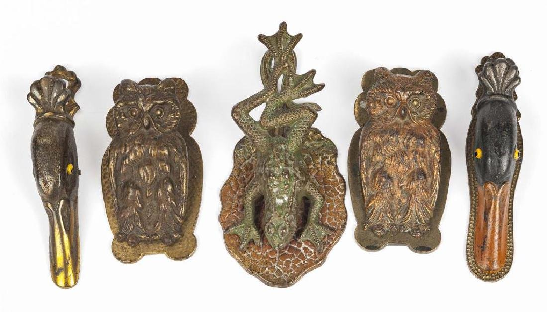 5 Victorian Cast Iron Figural Paper Clips - 2