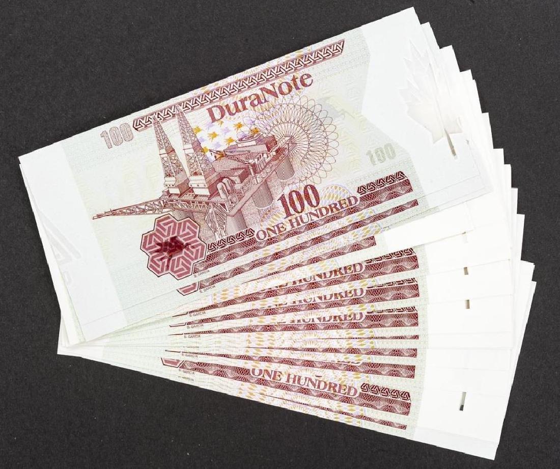 23 Duranote 100 Units Banknote Specimens