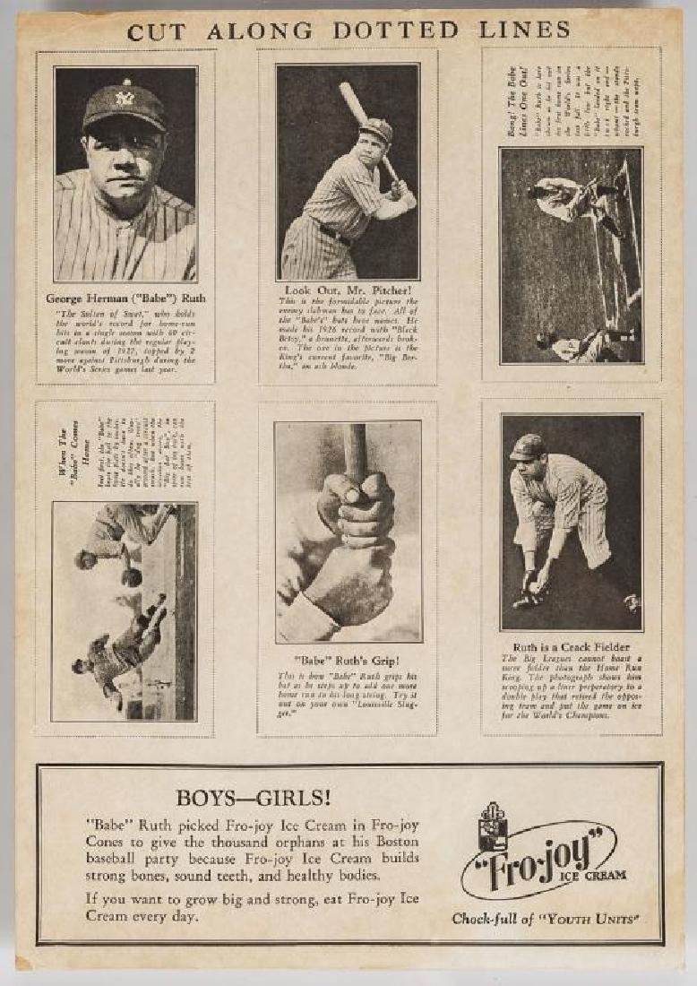 Fro-Joy Babe Ruth Unut Card Set