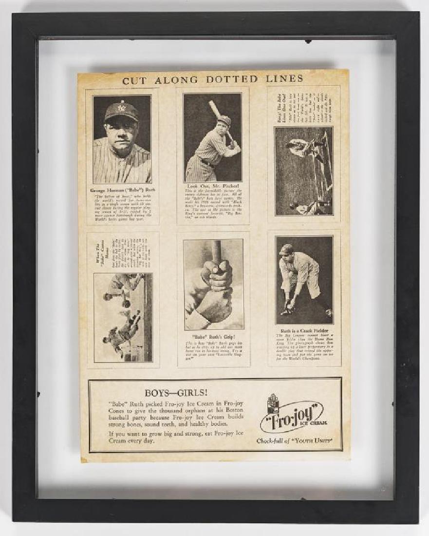 Fro-Joy Babe Ruth Unut Card Set - 2
