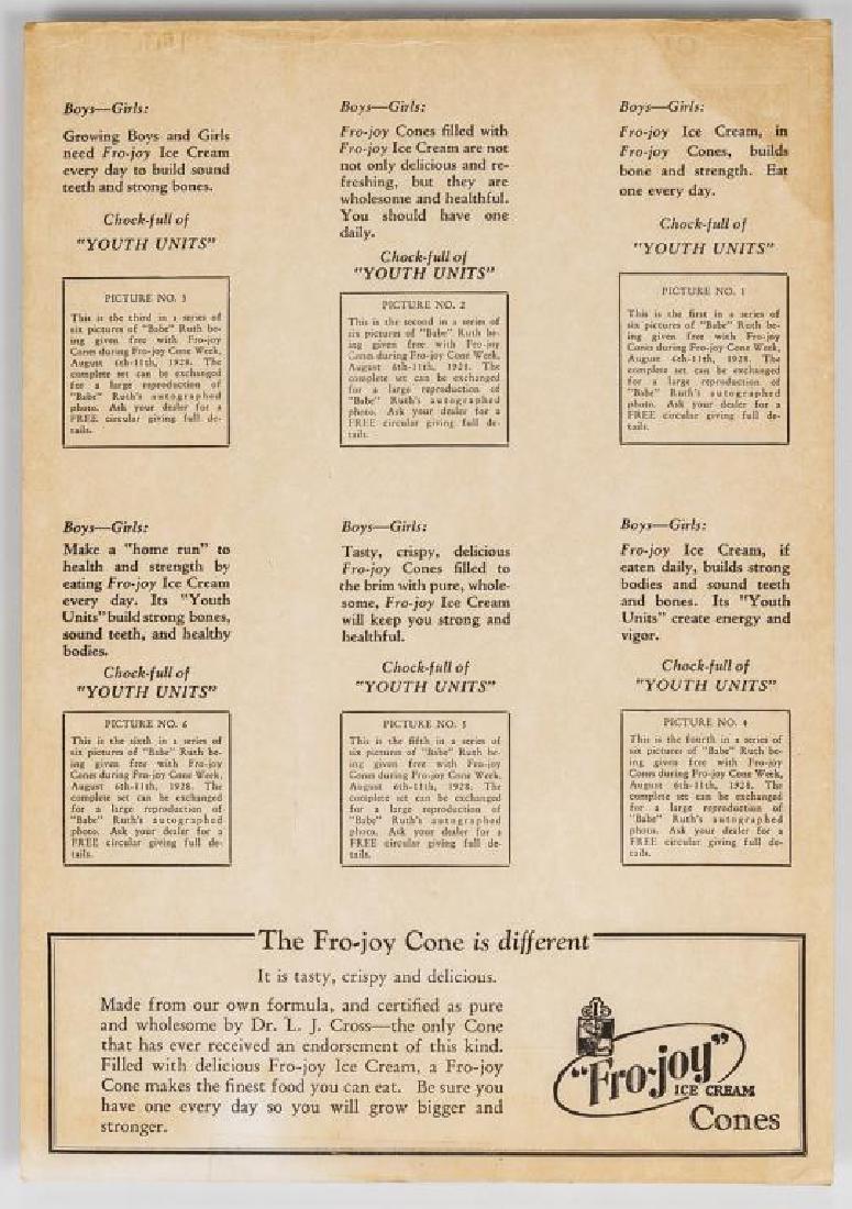 Fro-Joy Babe Ruth Unut Card Set - 3