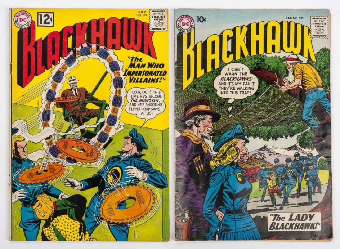 2 1962 Blackhawk Comic Books