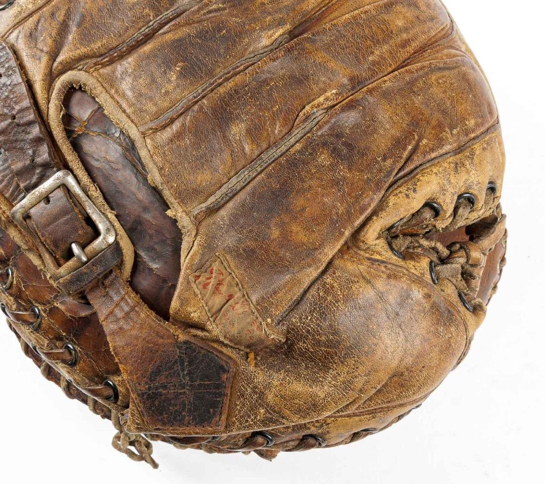 2 1920's Buckle Back Catcher's Mitts - 3