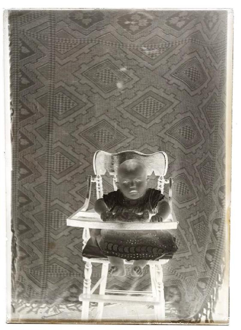 6 Silver Gelatin Glass Negatives incl Motorcycle - 3