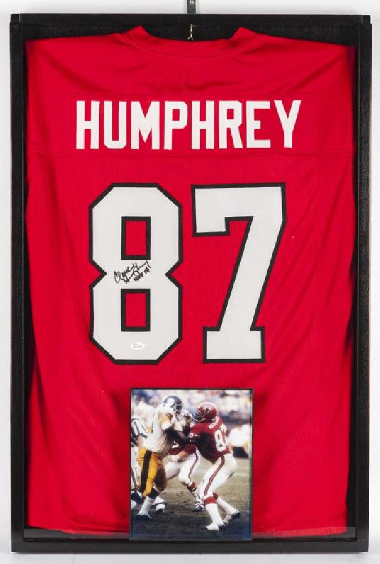 Autographed Claude Humphrey Football Jersey