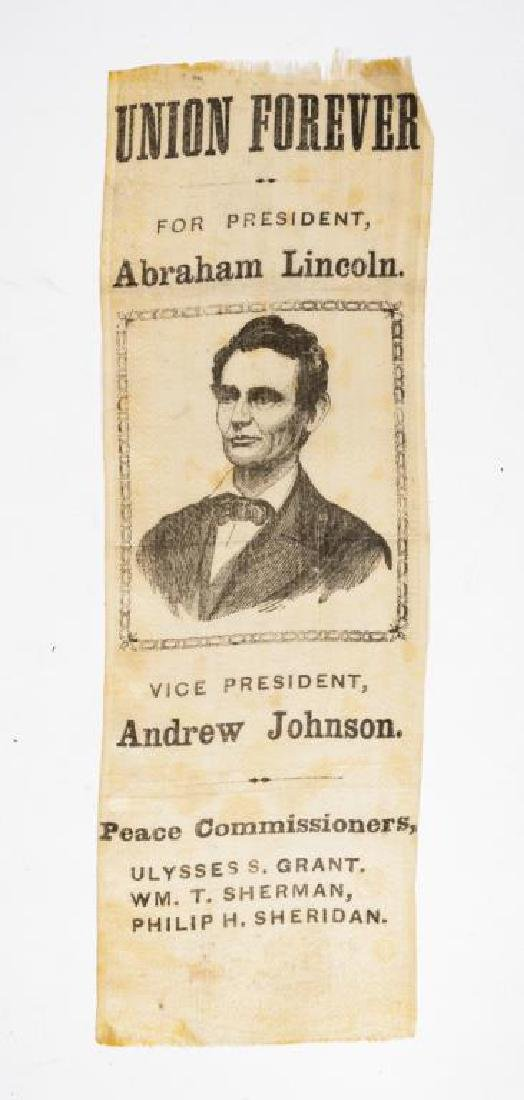"1864 ""Peace Commissioners"" Lincoln Campaign Ribbon"