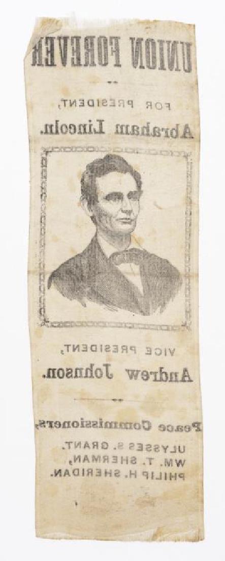 "1864 ""Peace Commissioners"" Lincoln Campaign Ribbon - 2"