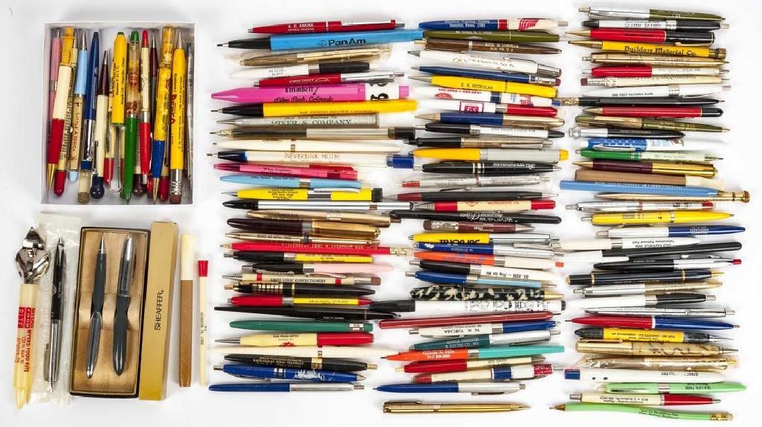 126 Circa 1940s - 1960s Advertising Pens & Pencils