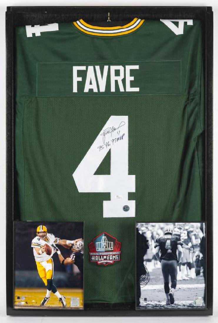 Autographed Brett Farve Football Jersey