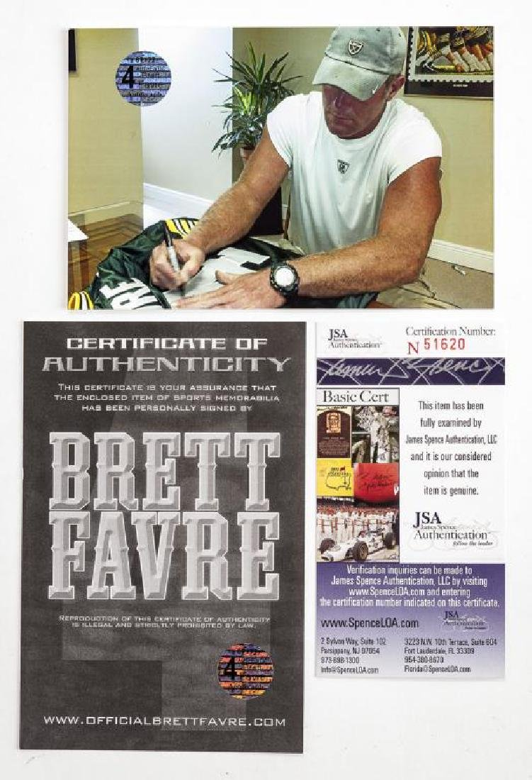 Autographed Brett Farve Football Jersey - 5