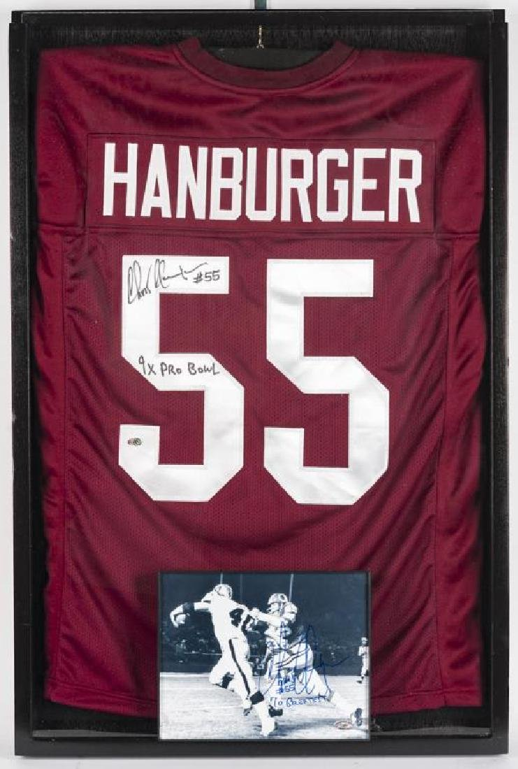Autographed Chris Hanburger Football Jersey
