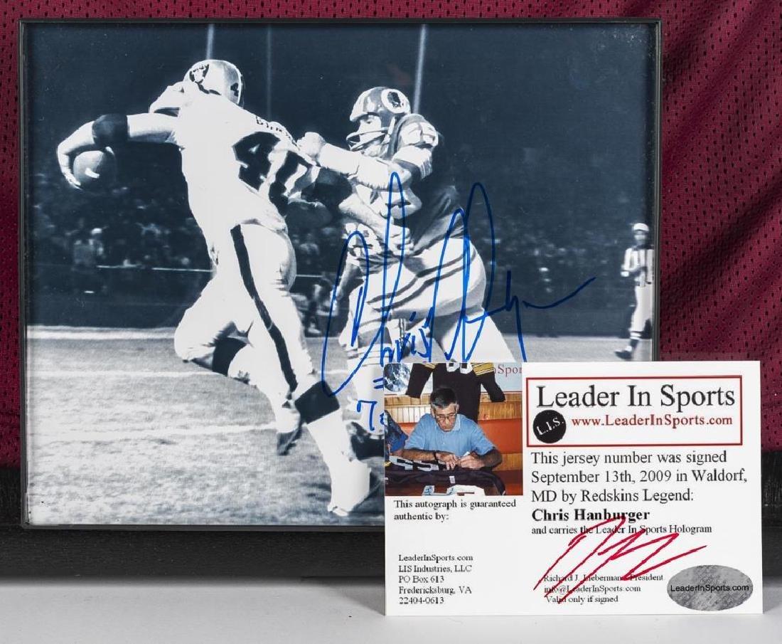 Autographed Chris Hanburger Football Jersey - 3