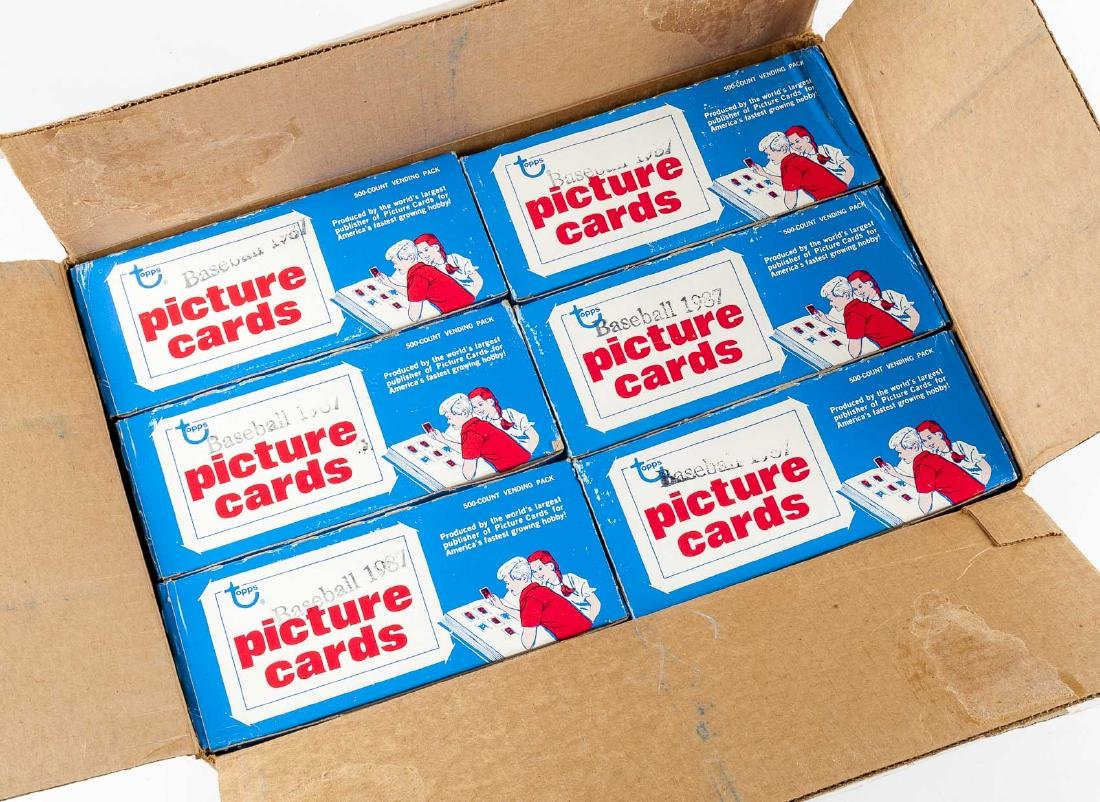 Case of Topps 1987 Baseball Picture Cards in OBs