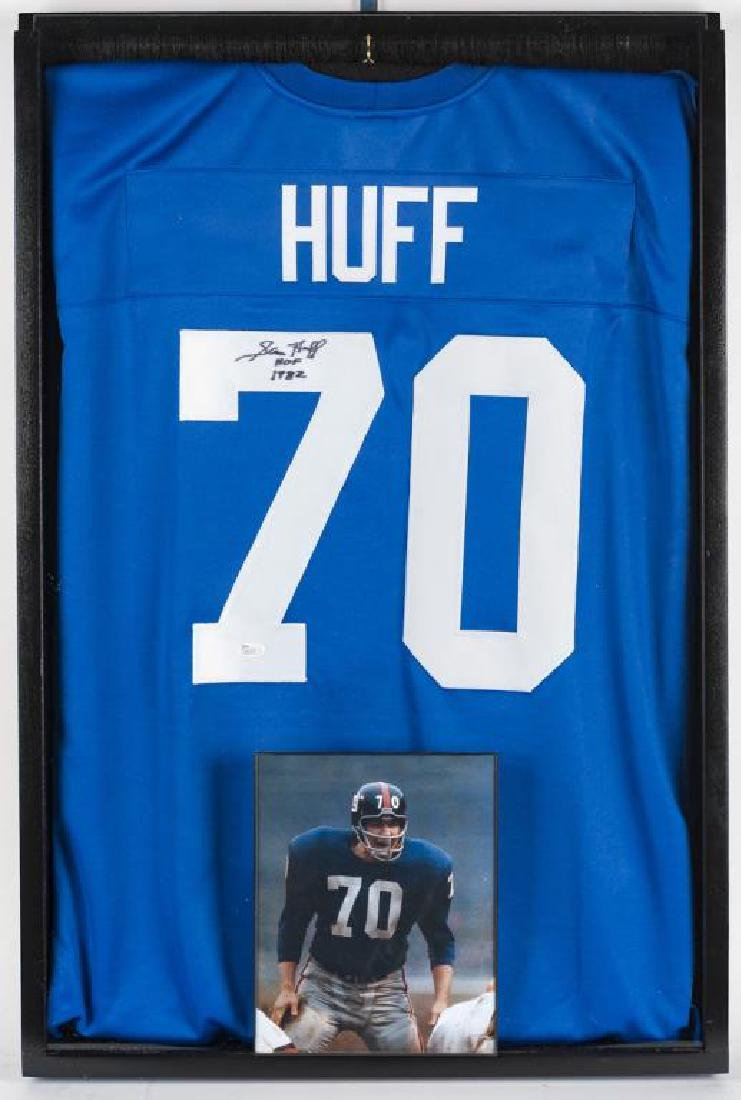 Autographed Sam Huff Football Jersey