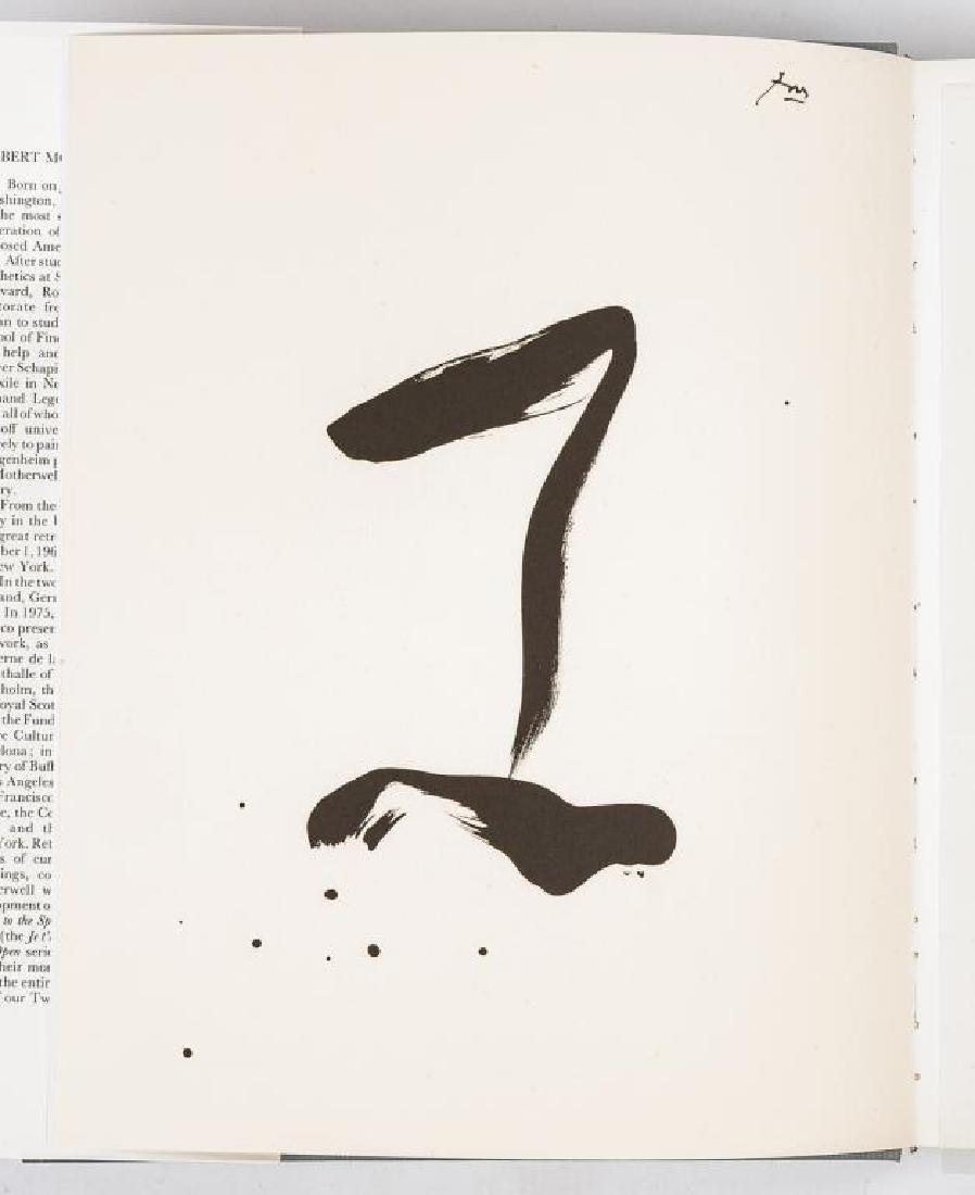 Robert Motherwell by Marcelin Pleynet w/ Litho - 5
