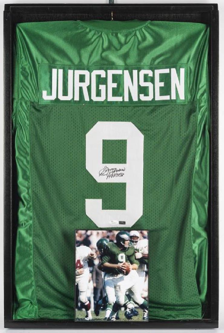 Autographed Sonny Jurgensen Football Jersey