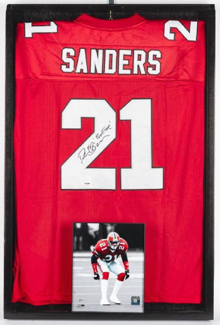 Autographed Deion Sanders Football Jersey