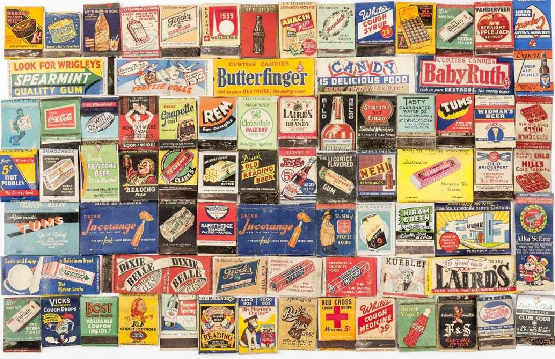102 Matchbooks incl Food, Liquor, Beer & Medicine