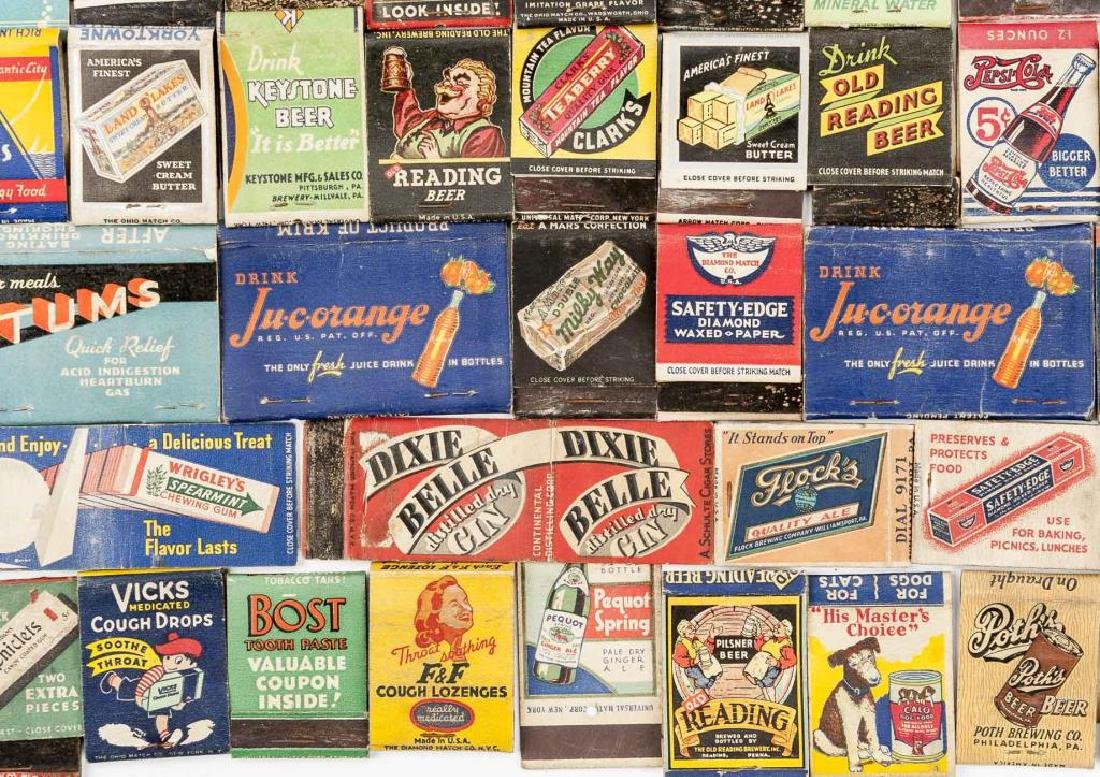 102 Matchbooks incl Food, Liquor, Beer & Medicine - 3