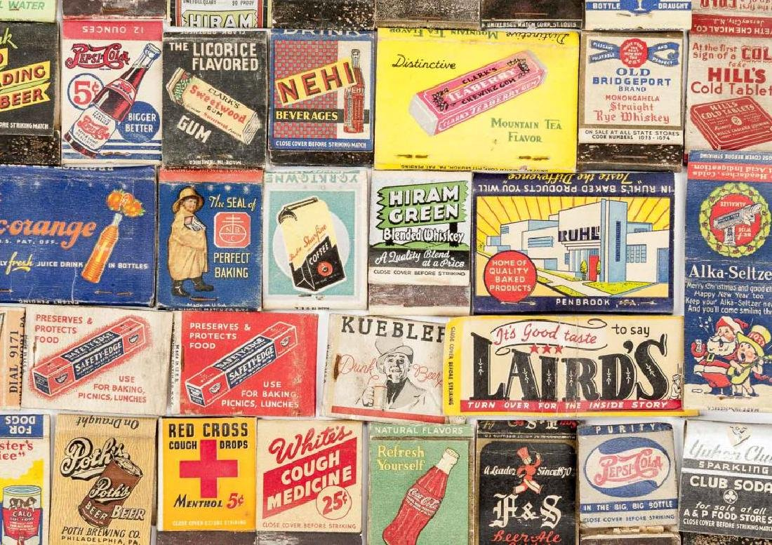 102 Matchbooks incl Food, Liquor, Beer & Medicine - 4