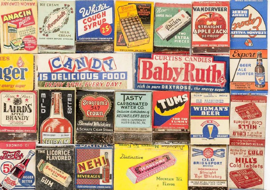 102 Matchbooks incl Food, Liquor, Beer & Medicine - 5