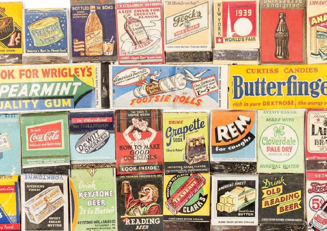 102 Matchbooks incl Food, Liquor, Beer & Medicine - 6