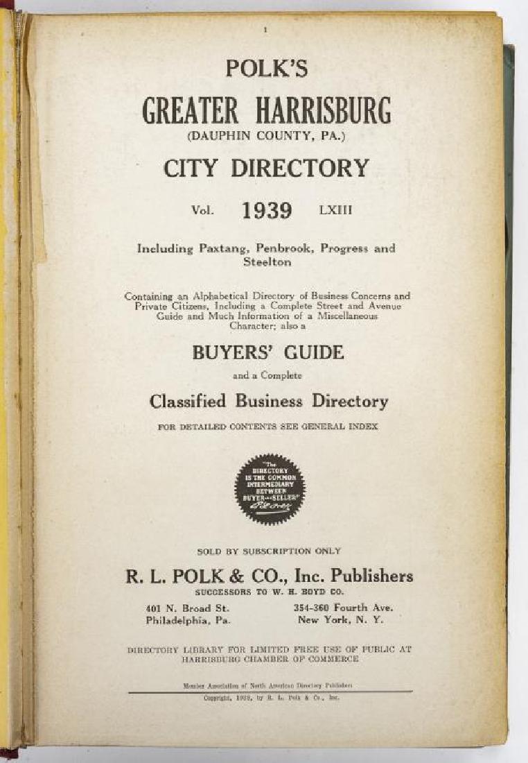 9 Directories of Harrisburg & West Shore Incl Polk - 10