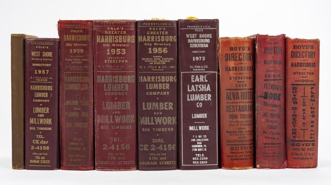 9 Directories of Harrisburg & West Shore Incl Polk