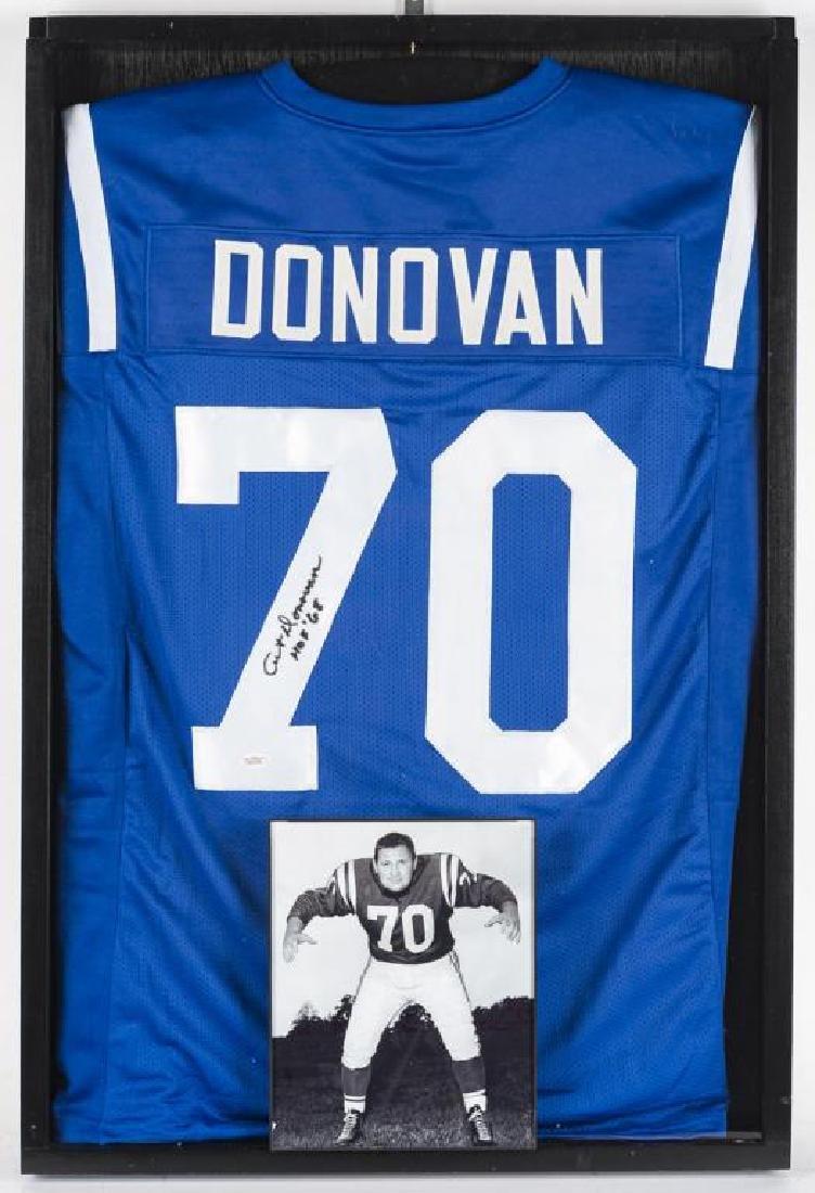 Autographed Art Donovan Football Jersey