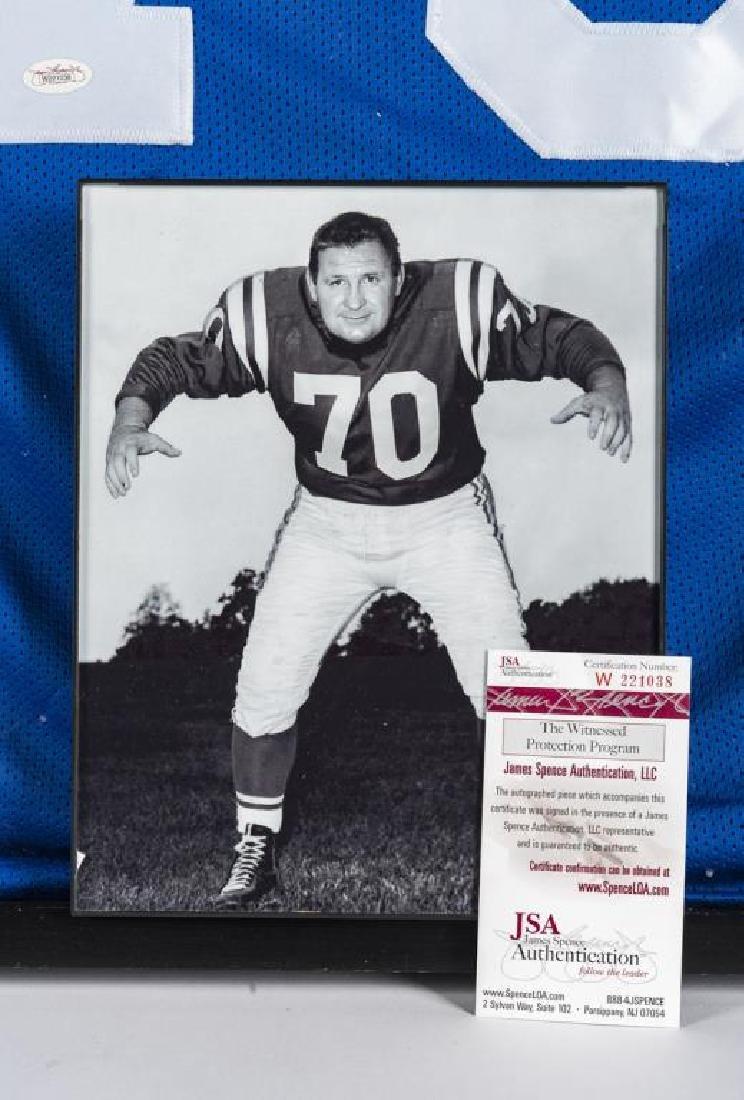 Autographed Art Donovan Football Jersey - 2