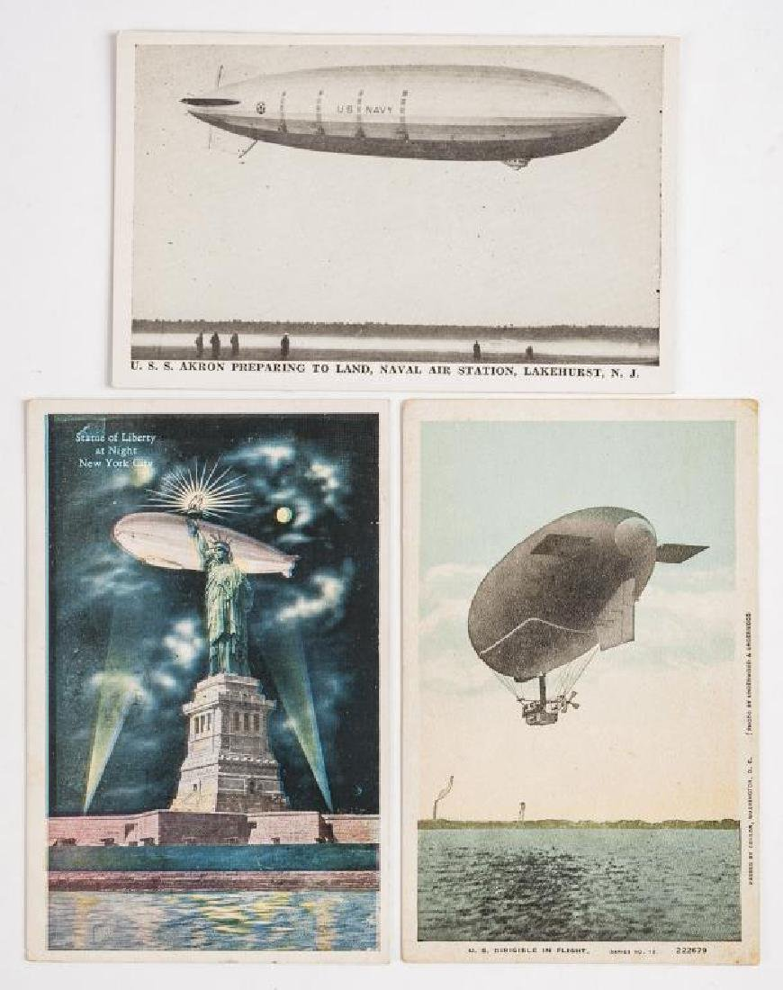 6 Zeppelin Postcards Incl Hindenburg Disaster - 3