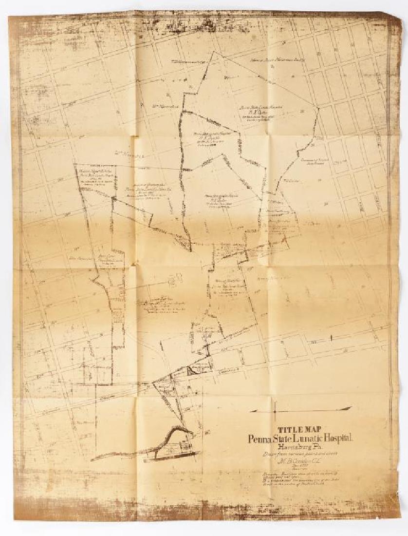 1897 Map of PA State Lunatic Hospital Facsimile