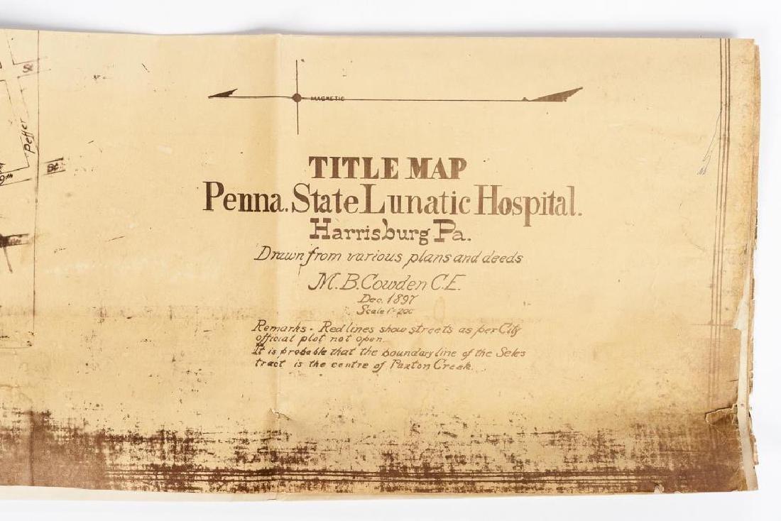 1897 Map of PA State Lunatic Hospital Facsimile - 2