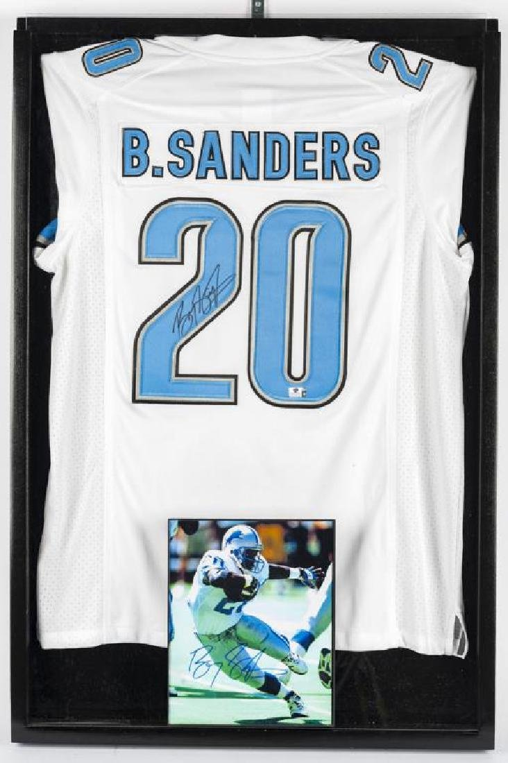 Autographed Barry Sanders Football Jersey