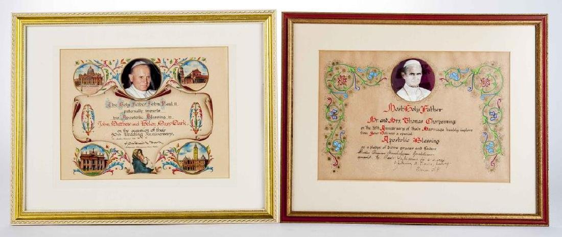 2 Apostlic Papal Blessings with Seals