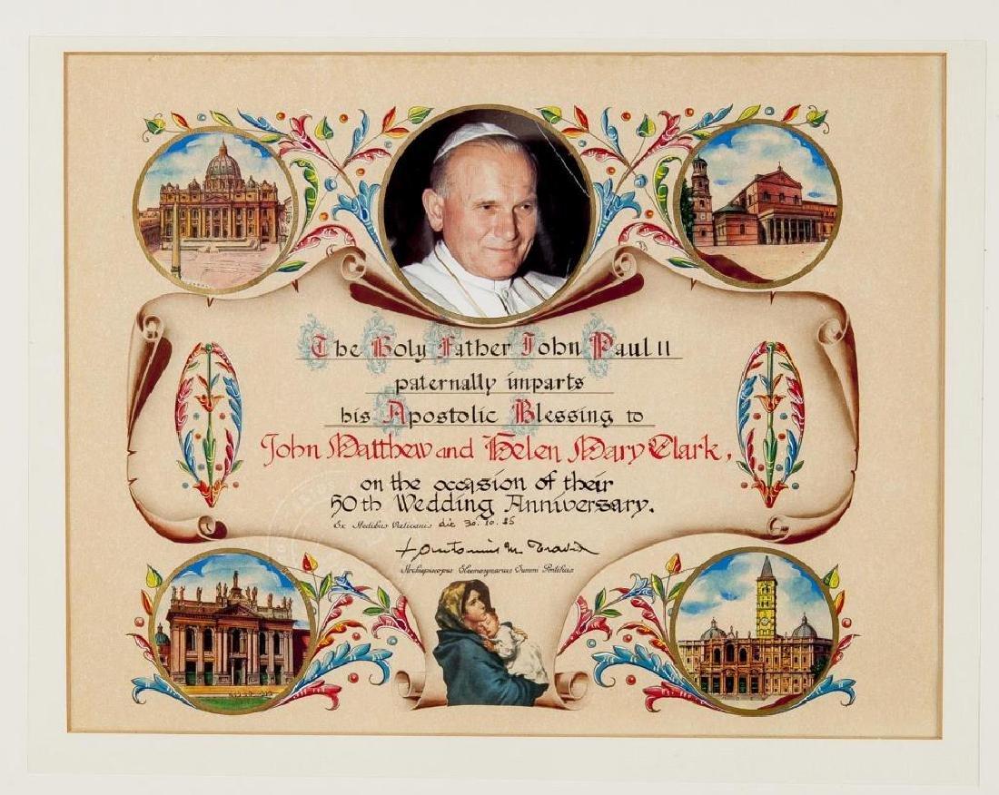 2 Apostlic Papal Blessings with Seals - 4